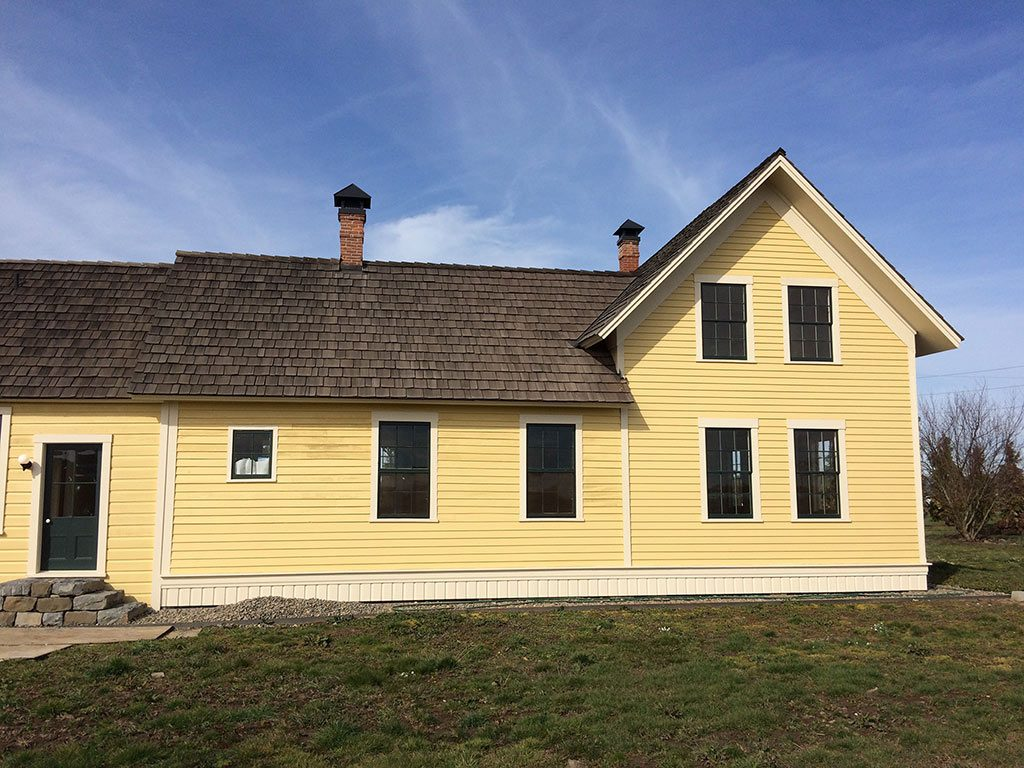 Silas Beeks house with new windows